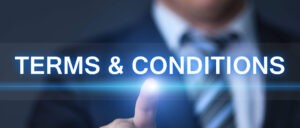 Terms & Conditions Website Banner
